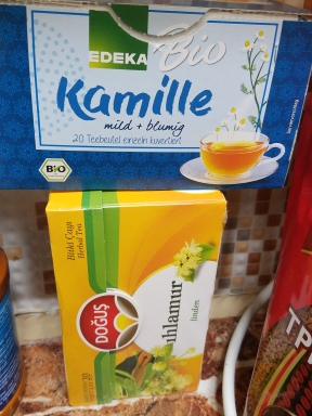 Turkish and German herbal teas.